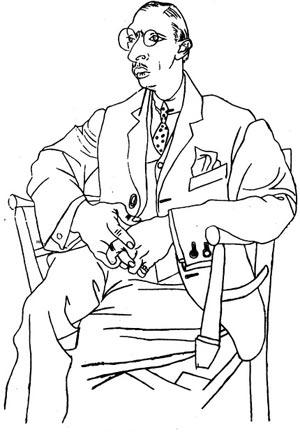 stravinsky-portrait-picasso