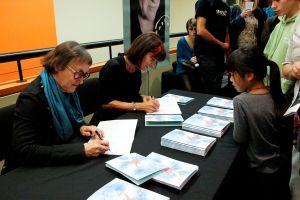 Élisabeth Eudes-Pascal et Marie Décary ont signé des bandes dessinées pour les enfants. Photo: Andréa Cloutier